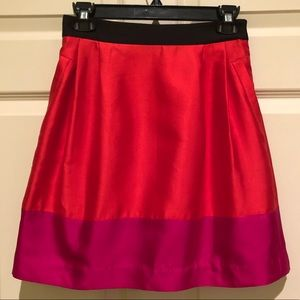 Kate Spade Colorblock Skirt with Bow and Pockets